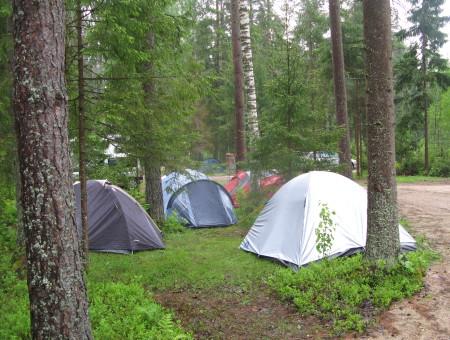 Места для установки палаток