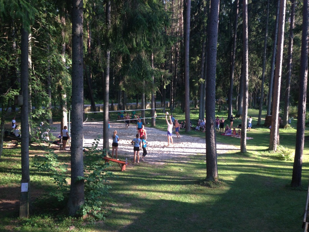 taevaskoja salamaa camping võrpalliplats