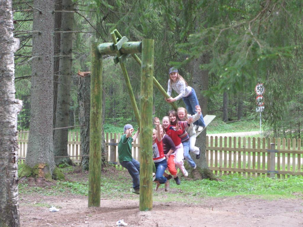 taevaskoja salamaa camping kiik lastele